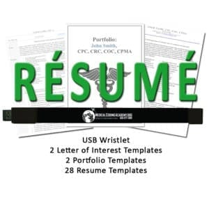 medical coding resume kit